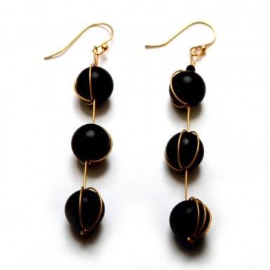 Nucleosomes earrings